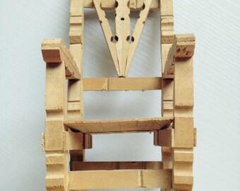 Vintage Handmade Clothespin Rocking Chair