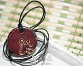 Copper & Wine Bee Essential Oil Diffuser Necklace | Lisa C. Warren | Handmade | Aromatherapy Natural Medicine