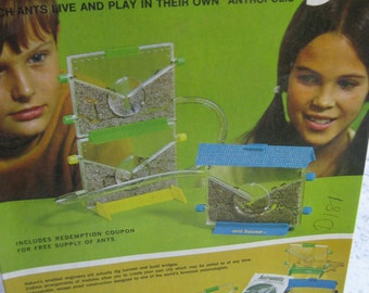 Vintage 1972 Ant City Ant Farm Kit