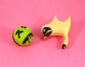 Mr. Yuk Catnip Cat Toy - Needle Felted Wool