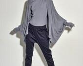 Extra Fine Merino Wool Cardigan - Grey Cardigan - Grey Wool Cardigan - XMas Red Cardigan - Holiday Gift