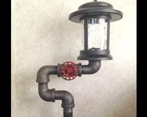 Popular items for black pipe light on etsy for Black pipe light fixture