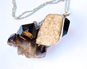 Druzy- Pale Pink-Raw mineral-Crystal- Sterling Silver-Sparkling Pendant/Necklace
