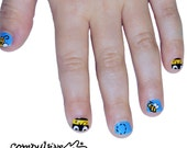 Bumblebee Kids Nail wraps. Mommy and me nail polish strips.