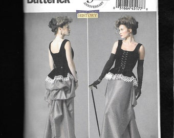 Butterick 5969 Historical Ladies Costume Late 1800's Long Skirt, And Corset, Sizes 14 To 22 UNCUT/NEW