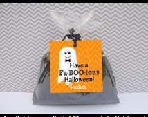 Halloween Favor Tags - Ghost Thank You Tags - Ghost Favor Tags - Halloween Gift Tag - Ghost Gift Tag - Digital & Printed