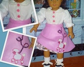 1950's Poodle Skirt, Petticoat, Blouse, Tie, Saddle Shoes, Socks Fits American Girl Doll Maryellen