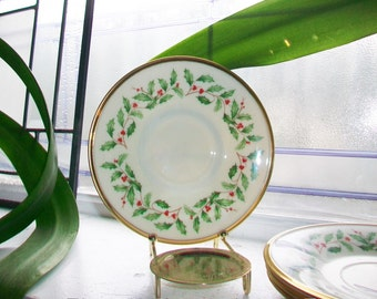 4 Lenox Dimension Holiday Saucers