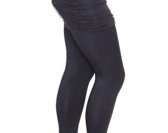 Plus Size Womens Skirted Yoga Leggings-Hand Dyed Organic Cotton/Bamboo Jersey-Made to Order Size-Choice of Color-XL,2X,3X,4X,5X,6X,7X,8X