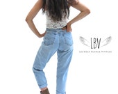 Vintage High Waisted Levi's 551 Boyfriend Style Jeans