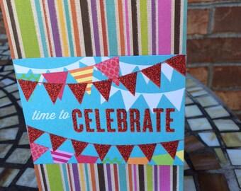Birthday Greeting Card: Let's Celebrate!