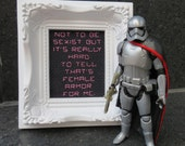 Force Friday - Female Armor framed cross stitch