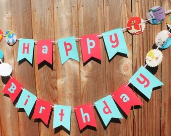 Dr. Suess Theme Banner HAPPY BIRTHDAY Personalized Vintage Book Pages Dr Suess Party