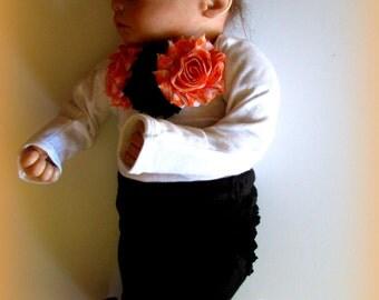 Baby Girls' Black and Orange Halloween Costume, Baby Girls' Halloween Outfit, Girls' Clothing Halloween Set