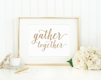 """Watercolor Art Print - """"Gather Together"""" - Mirabelle Creations"""
