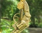 GUN LOVE  Vintage Style Gun and Bullets Christmas Tree Ornament