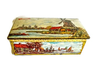 Droste Tin Haarlem Holland Chocolates 1960s