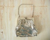 Whiting and Davis Art Deco Mesh Clutch | 1920's Silver Clutch
