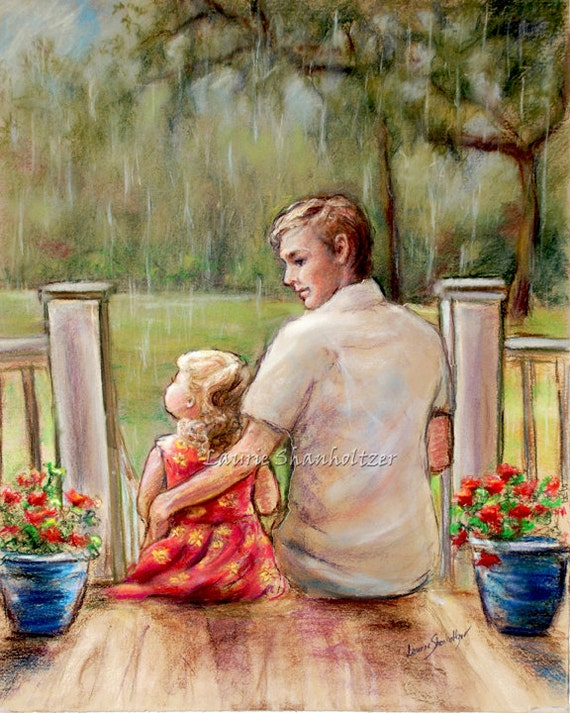 Father Daughter Quot Rainy Day Just Daddy And Me Quot By Laurie