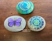 Custom Listing for SARAH - Set of Three Pebbles - Final Payment