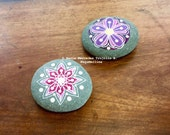 Custom Listing for DEFNE - Set of Two Mandala Flower Pebbles - Final Payment