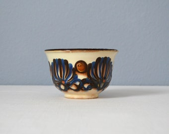 Vintage Herman A. Kähler Hand Decorated Small Bowl