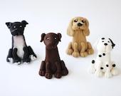 Fondant Dog - Dog Cake Fondant Cake Topper - Puppy Fondant Topper - Dog cake - Edible Dog - Edible Puppy - Choose you own - Fondant Puppy