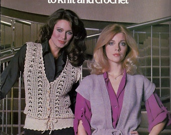 Vest For Women To Knit and Crochet Pattern Booklet Leisure Arts 141