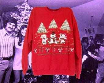Ugly Christmas Sweater Tacky Christmas Sweater Ugly Christmas Sweatshirt Women Christmas Sweater Holiday Sweater 90s Sweatshirt Ski Sweater