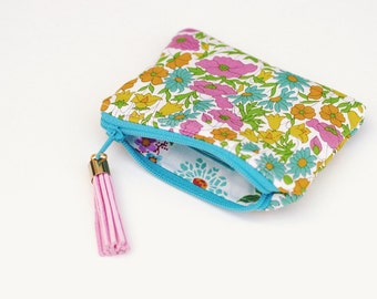 Coin Purse Zipper Pouch - Liberty London Yellow