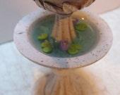 Miniature Fairy Garden Dollhouse Fountain with Koi Fish and Lilypads