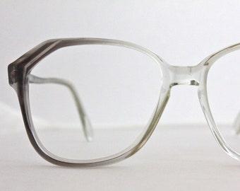Vintage 80's Angular Liberty Gray Eyeglass Frames