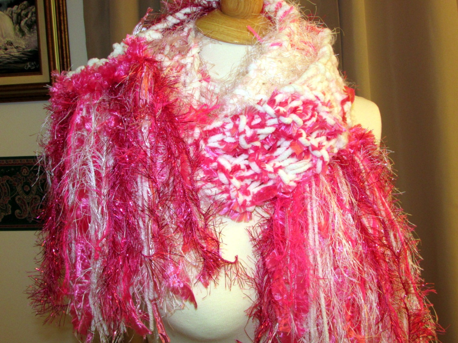 Hand knit scarf unique womens clothing by SouthernBornNBlessed