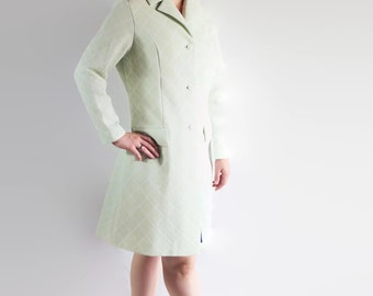 60s 70s Coat, Plus Size, Mod, Green, Montgomery Ward, Made in England