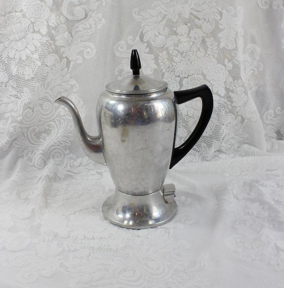 Mirro Percolator Coffee Maker : Antique Mirro-Matic 5 Cup Electric Percolator Coffee Pot