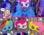My Little Pony Mask Pinkie Pie costume Rainbow Dash Mask Fluttershy Apple Jack Mask Twilight Sparkle Mask Rarity Mask Pony mask MLP costume