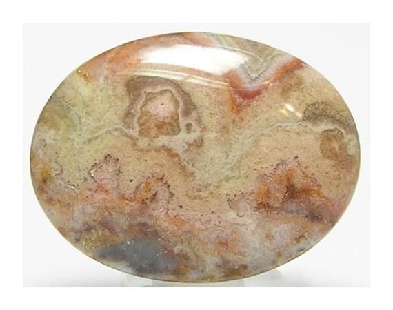 Agate Semi Precious Stone Cabochon 40x30  mm calibrated oval flat back jewel
