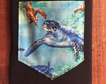 Sea turtles pocket tee s/m/l/xl