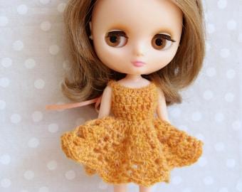 Crochet Middie Blythe Dress Marigold.