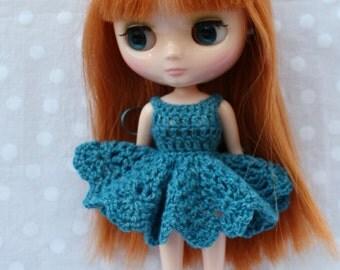 Crochet Middie Blythe Dress Blue.