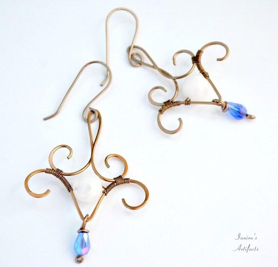 Moonstone earrings ~ Handmade