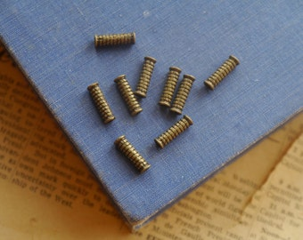 30 pcs Antique Bronze Ornate Filigree Column Cylinder Spacer Beads 12mm (BB2713)