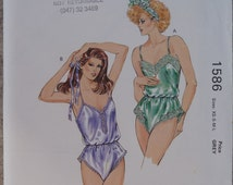 Underwear to sew lingerie sewing pattern teddy lingerie Kwik Sew 1586 silk teddy sizes XS S M L