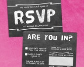Chalkboard RSVP Wedding Response Card (Printable)