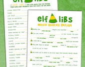 ELF Movie Mad Libs - Holiday Party Game Printable - Inspired By Buddy The Elf - Instant Download