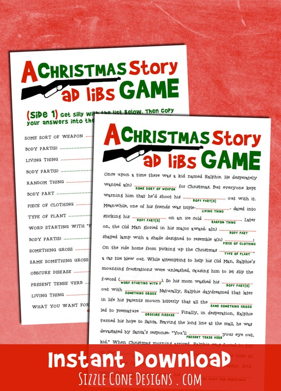 Christmas Madlibs - Holiday Party Game Printable