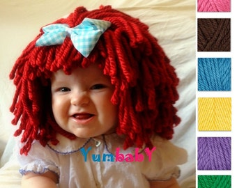 Choose the Color Customizable Yarn Wig - Made to order