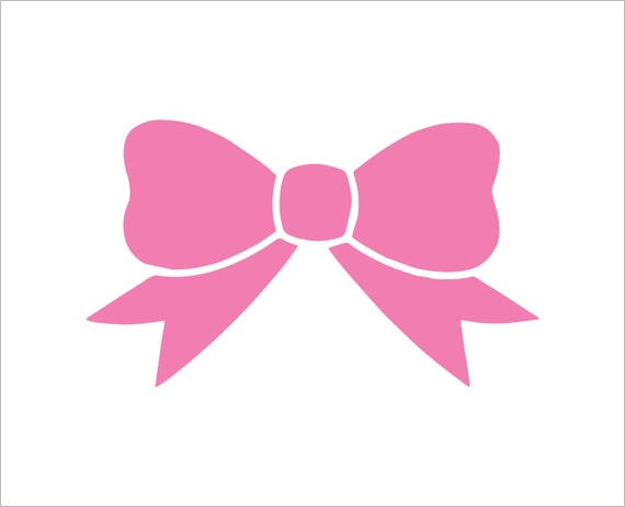 1 Bow Decal Cute Bow Sticker Hairbow Decal Hairbow