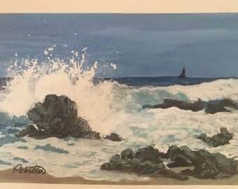 Oregon Crashing Waves - Giclee'