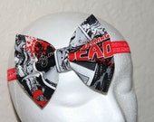 The Walking Dead Bow // Walking Dead // Zombie Bow // Walking Dead Bow //Walking Dead Headband // by Born TuTu Rock